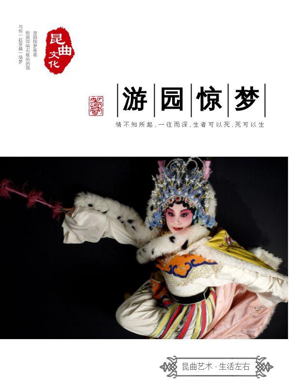 精美大气非物质文化遗产昆曲宣传画册