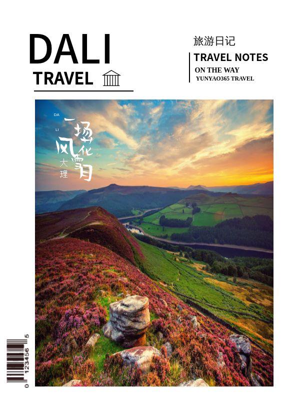 旅游打卡大理旅游日记摄影电子相册