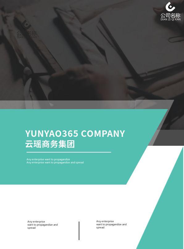 绿色几何商务风公司简介企业画册