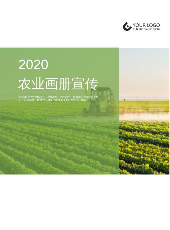 绿色简洁现代农业简介企业画册