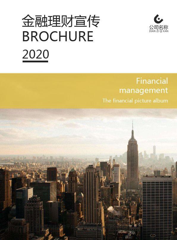 公司金融理财宣传企业画册设计