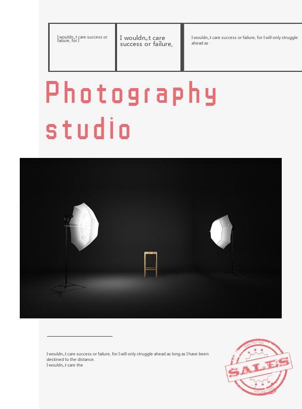 简约摄影工作室宣传招商企业画册