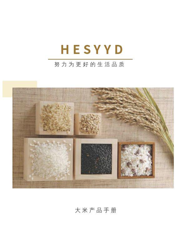 文艺创意五谷杂粮产品食品宣传电子画册