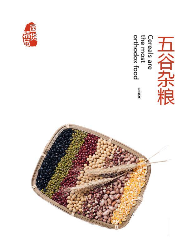 健康生活五谷杂粮商品食品宣传电子画册