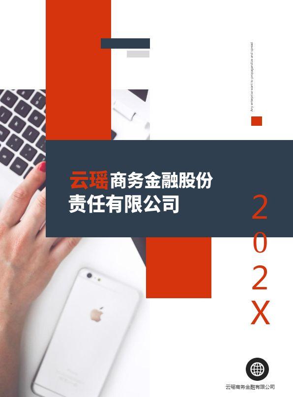 红蓝商务金融公司文化宣传展示电子画册